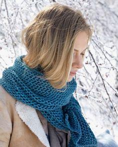 Purse-Stitch Scarf  - Free pattern from Martha Stewart