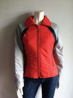 Vintage Women's 80's Ski Jacket, Red, Gray, Navy, Jacket by Jean Claude Killy (L) by Freshandswanky on Etsy