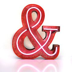 Marquee Light Neon Ampersand, $319, now featured on Fab.