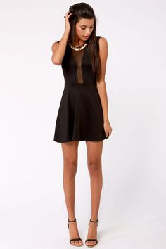 Peek Chic Cutout Black Dress at http://www.lulus.com/products/peek-chic-cutout-black-dress/54330.html