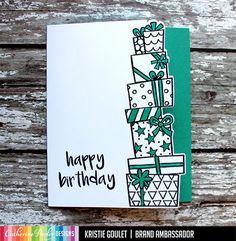 Happy Birthday 19, Happy Birthday Greeting Card, Happy Birthday Images, Birthday Wishes, Vintage Birthday Cards, Greeting Cards Handmade, Pattern Paper, Cardmaking, Stamps