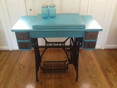 My Antique Singer Treadle sewing cabinet redo / repurposed.