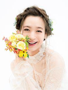 「結婚式 花嫁 前髪あり」の画像検索結果