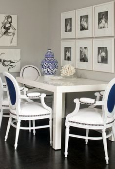 Simple White Dining Room Part 41