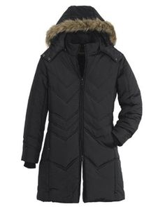 Made for lightweight performance with its polyester shell, lining and fill, it keeps the cold out comfortably, while its detachable faux-fur hood adds a fashionable flair.