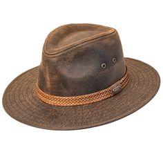 Indiana Jones UV Sun Block   UPF 50--Water-Rain Repellent-Fedora Hat-Brown-Large