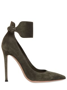 GIANVITO ROSSI - 110MM SUEDE PUMPS - LUISAVIAROMA - LUXURY SHOPPING WORLDWIDE SHIPPING - FLORENCE