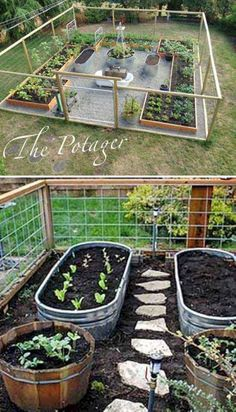Use Metal Trough as Container for Vegetable Garden and Install a Path Between Your Veggies. diy garden design 30 Creative Gardening Ideas You Need To Know 2019 Backyard Vegetable Gardens, Vegetable Garden Design, Outdoor Gardens, Vegetables Garden, Container Gardening Vegetables, Vegtable Garden Layout, Terraced Vegetable Garden, Vegetable Planters, Vegetable Ideas