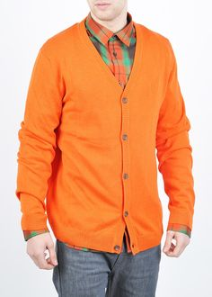 WeSC Borik Cardigan in Orange  Summercolours!!!