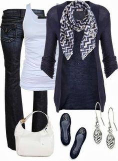 I love cardigans and scarves. Seriously.