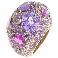 Pomellato Pom Pom Collection ring with violet and pink spinels and sapphires.Elisabeth §♥