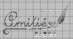 Amitié - friendship - point de croix - cross stitch - Blog : http://broderiemimie44.canalblog.com/