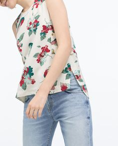 ZARA - NEW THIS WEEK - SIDE TABS FLORAL PRINT BLOUSE