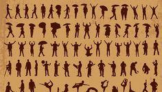 600+ silhouettes vectorisées : sport, dance, homme, femme, business, famille, enfant, musique,...