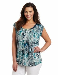 581f512e94c Jones New York Women s Plus-Size Extended Sholder Embellished Top