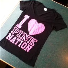 V.S. pink nation Tee Shirt Very good condition PINK Victoria's Secret Tops Tees - Short Sleeve
