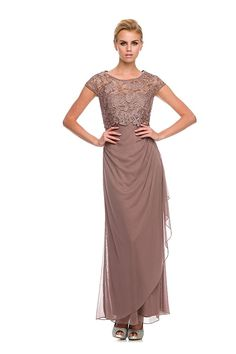 e4768f1b728c1a Mother of the Bride formal gown 5094NX-MOCHA-4X at Amazon Women s Clothing  store