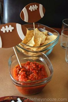 DIY Football Party Food Labels