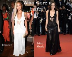 e7ea207b3dc9 Irina wore it better because she is taller and it shaped out her body more.