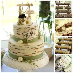 Image detail for -Adam, Melissa, and Bryis: A Rustic Wedding Cake and Cupcakes