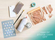 copper foil iPhone case DIY