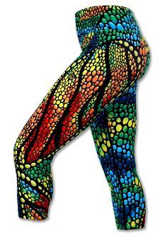 Women's Chameleon Capris for Running, Yoga & Workout