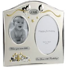 Double Then And Now 18th Birthday Photo Frame - a lovely idea for 18th birthday present from mum dad or best friend