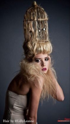 Creative Hair | Avant Garde bird cage