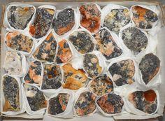 26 Pc Cerussite Barite Crystal Specimen Flat Les Dalles Mine Mibladen Morocco