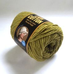 Lion Brand Yarn Pure Cotton Worsted Weight 5 oz Green Avocado 134 USA New #LionBrand #Plain