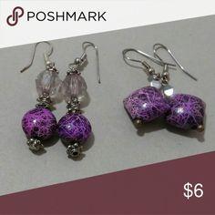 Set of 2 purple earrings Great shape and unused. Jewelry Earrings