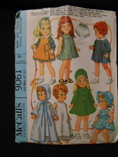 McCalls 9061 Doll clothes size 12 16 Betsy Wetsy by MadkDesigns, $19.99