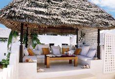 Exotic Outdoor Space by E. Claudio Modola in Lamu, Kenya
