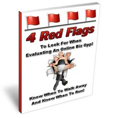4 Red Flags to look for when evaluating an online business opportunity. This book will teach you when to grab the opportunity or walk away from it. It basically teaches you how to make the right decisions for your business.