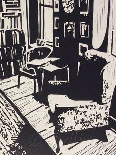 The Art Room, lino cut.