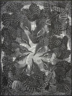 Ink Drawing Colin See-Paynton. Round of Wrens. - Round of Wrens - Colin See-Paynton Medium: wood engraving Edition : Linocut Prints, Art Prints, Block Prints, Davidson Galleries, Tinta China, Scratchboard, Wood Engraving, Clip Art, Woodblock Print