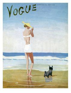 Vogue Cover - July 1937 Giclee Print by Eduardo Garcia Benito at eu.art.com
