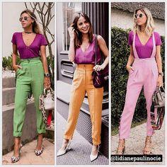 O verão inspira looks mais coloridos. Investir em combinações de cores é uma forma de alegrar e versatilizar as peças do seu guarda-roupa.… Summer Outfits, Girl Outfits, Casual Outfits, Fashion Outfits, Colourful Outfits, Colorful Fashion, Color Blocking Outfits, Work Fashion, Casual Chic