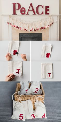 A fun and modern DIY Advent calendar to make with the kids.