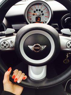 Red nails & my Mini Cooper