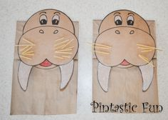 Walrus Puppet with link to free template!
