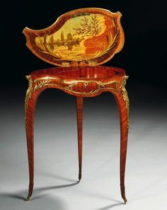 A Louis XV Style Gilt Bronze And Marquetry Table Signed By Francois Linke (1855-1946)