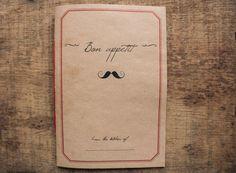DIN A5 - Cuaderno de Recetas Bon Appetit - hecho a mano en DaWanda.es