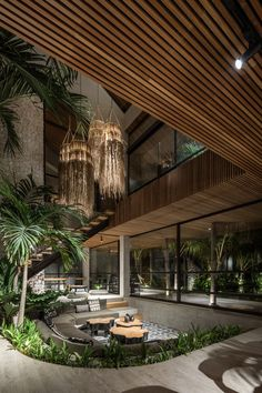 Gallery of Cala Saona House / Biombo Architects - 19 Dream Home Design, Modern House Design, Cool House Designs, Tropical House Design, Tropical Houses, Modern Tropical House, Bali House, Sunken Living Room, House In Nature