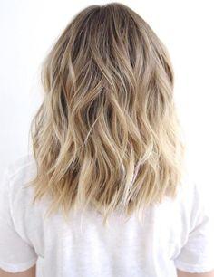 Medium To Long Wavy Brown Blonde Hair