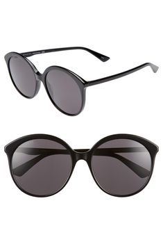 64ae6fd3de0 Gucci 59mm Round Sunglasses available at  Nordstrom Round Sunglasses