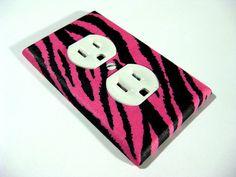 Pink and Black Zebra Girls Bedroom Decor