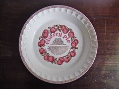 "Vintage Royal China ""Country Harvest Series"" Cherry Deep Dish Pie Plate"