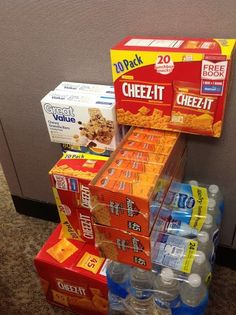 """Our office is having a packing party next week to make snack packs for the Ronald McDonald House Charities at Children's Mercy.  We love this idea and think that anyone could easily do this for a """"pay it forward"""" event.  These snacks are put into small bags and given to family members that just want a quick snack or maybe don't want to leave the room of their loved ones."""