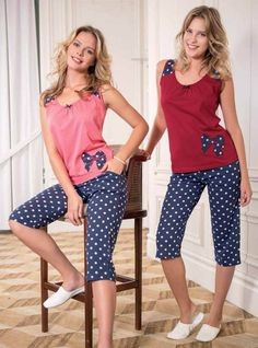 Sıfır Kol Kapri Takımı 962 #yeniinci #bayankapri #kapritakim #pijamacomtr Pajama Outfits, Girl Outfits, Casual Outfits, Fashion Outfits, Active Wear For Women, Women Wear, Night Suit For Women, Girls Night Dress, Ropa Interior Babydoll